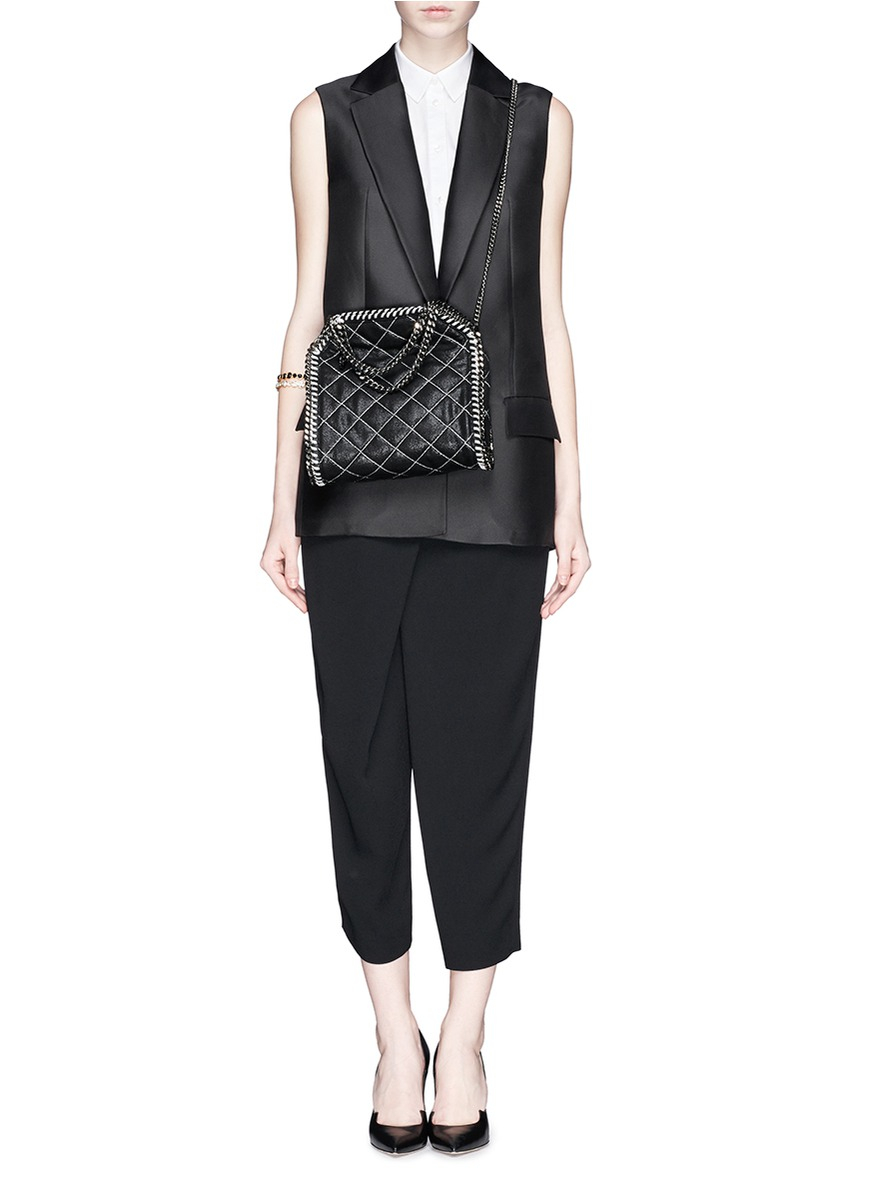 Lyst Stella Mccartney Falabella Mini Quilted Crossbody
