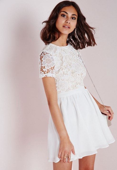7f6c15da56567 White Lace Dress Short Sleeve - Dress Foto and Picture