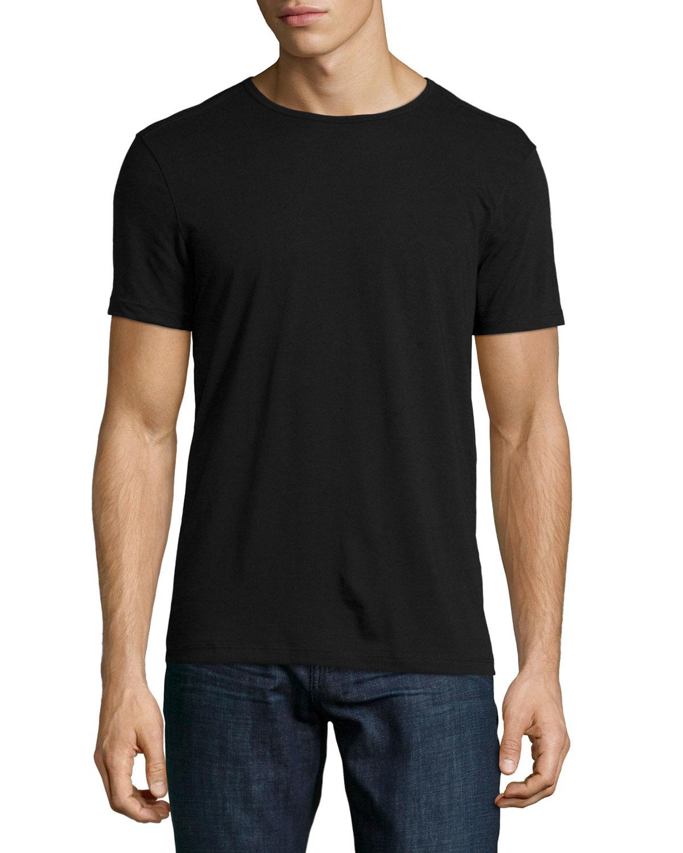 Black t shirt round neck - Gallery