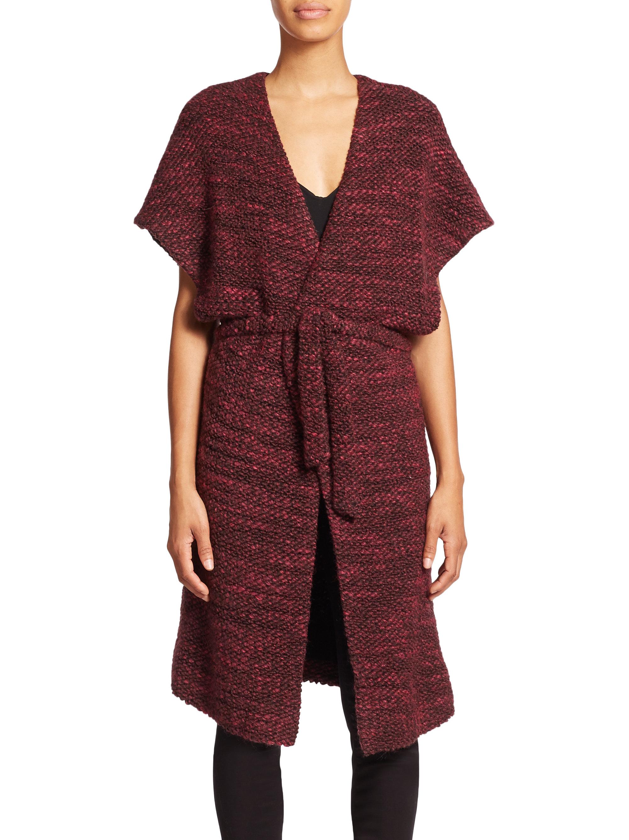 lyst alice olivia augustina kimono wrap jacket in red. Black Bedroom Furniture Sets. Home Design Ideas