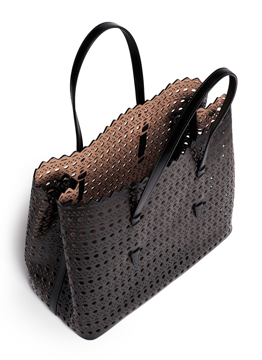 Perforated Leather Handbags