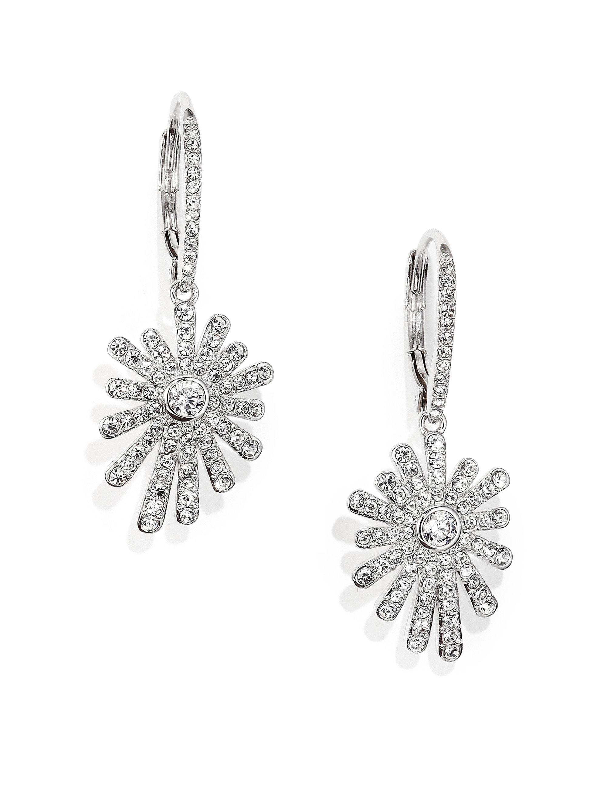 Adriana orsini Starburst Leverback Drop Earrings in Metallic