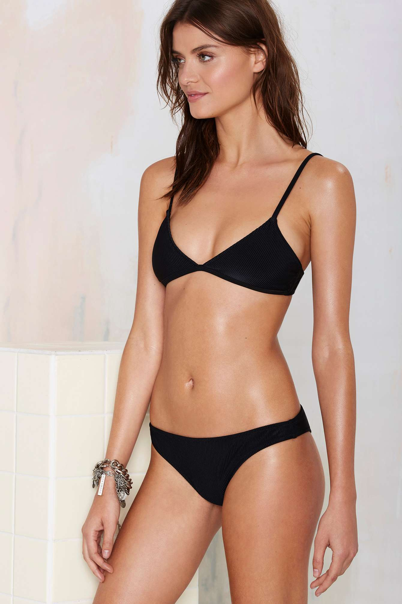 07c92802d1 Lyst - Nasty Gal Alina Mix   Match Bikini Bottom - Black in Black