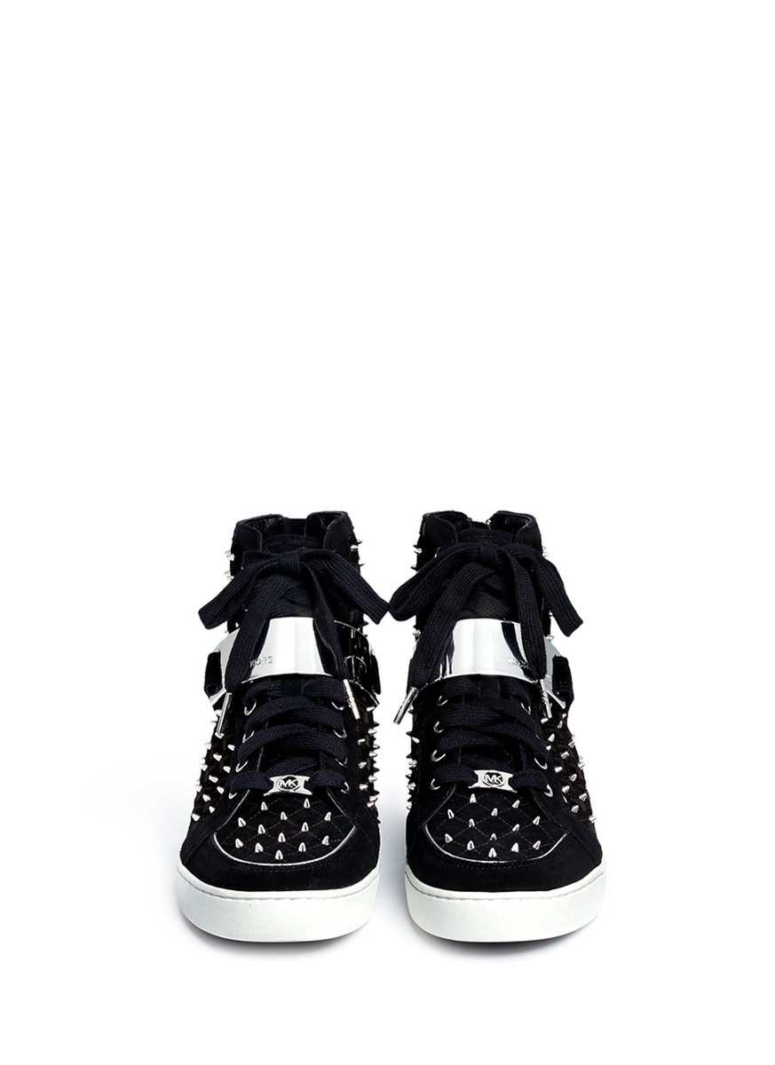 Lyst - Michael Kors Keaton Studded And Perforated Suede ... Rick Owens Shoes Women