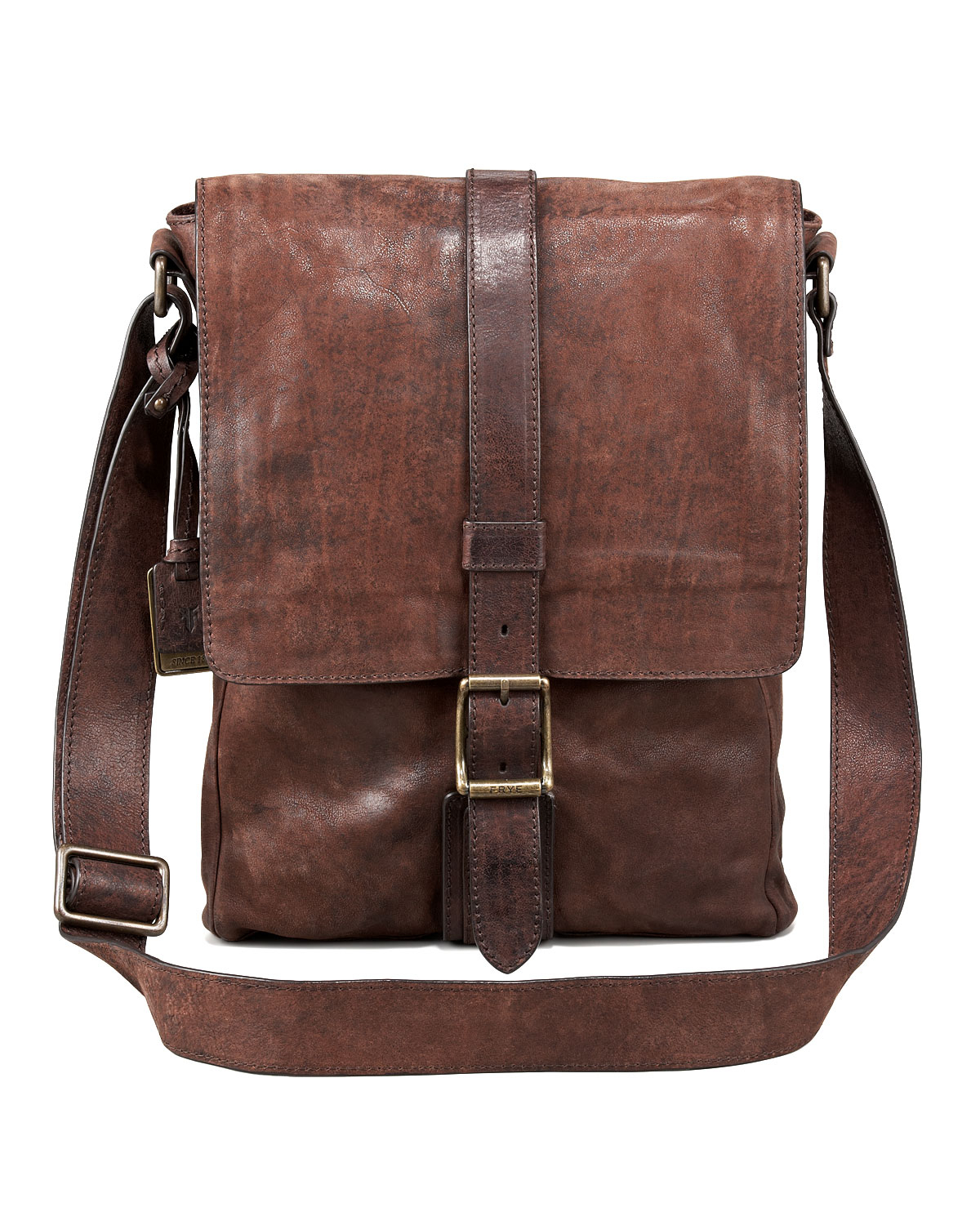 Frye Logan Leather Messenger Bag Small in Brown for Men | Lyst