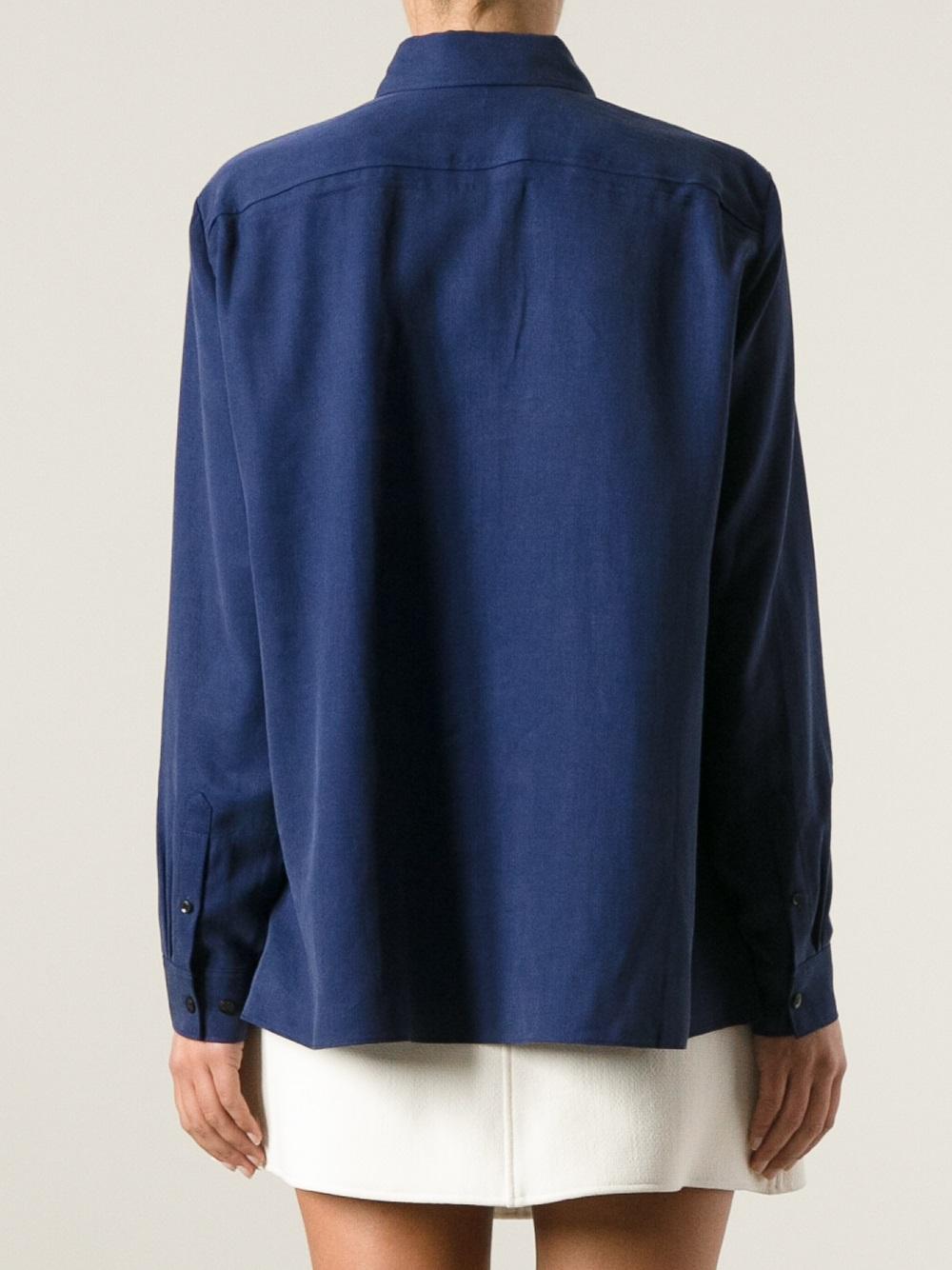 Lyst Acne Studios Sydney Fluid Shirt In Blue
