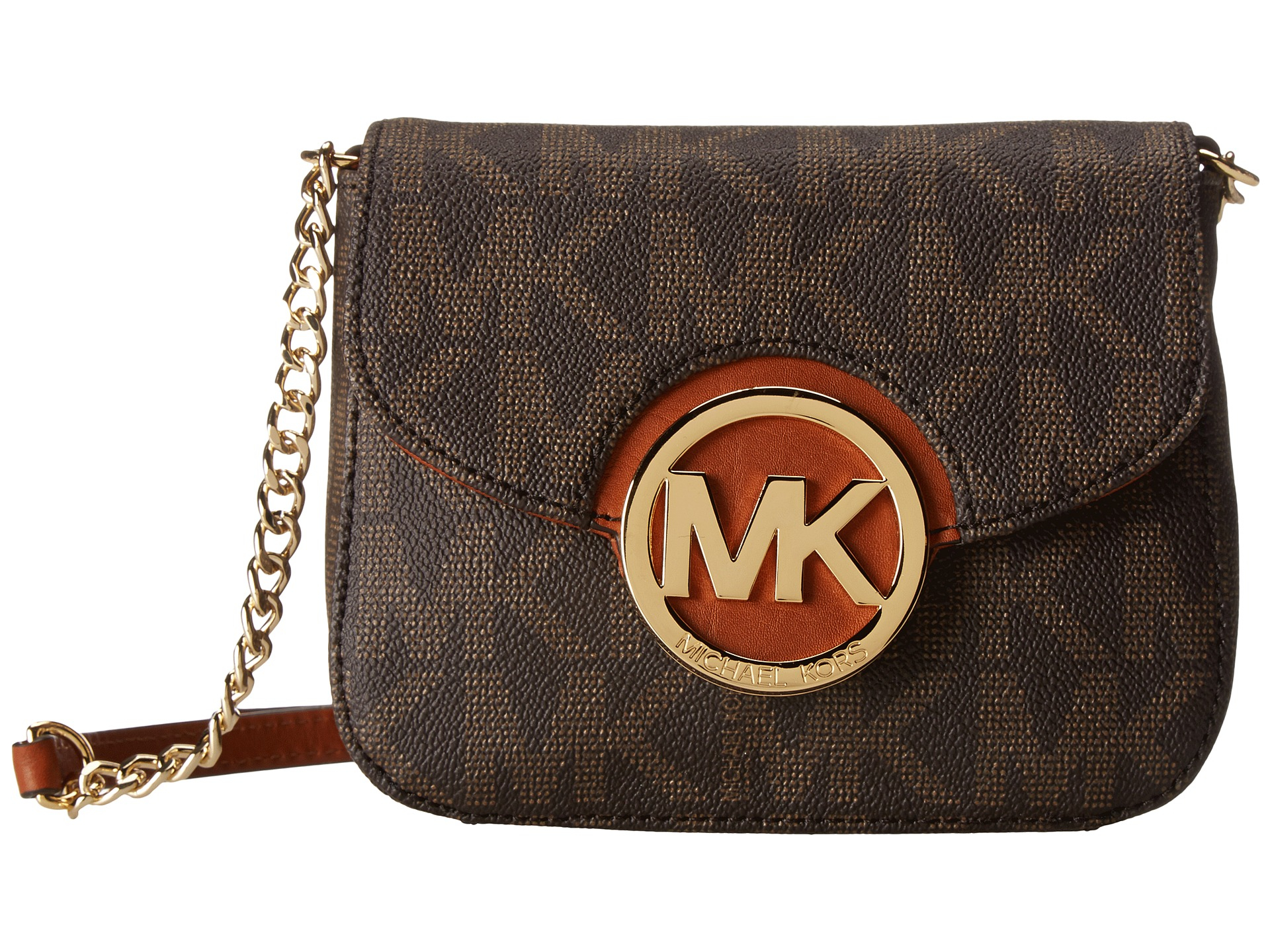 lyst michael michael kors fulton small crossbody in brown. Black Bedroom Furniture Sets. Home Design Ideas