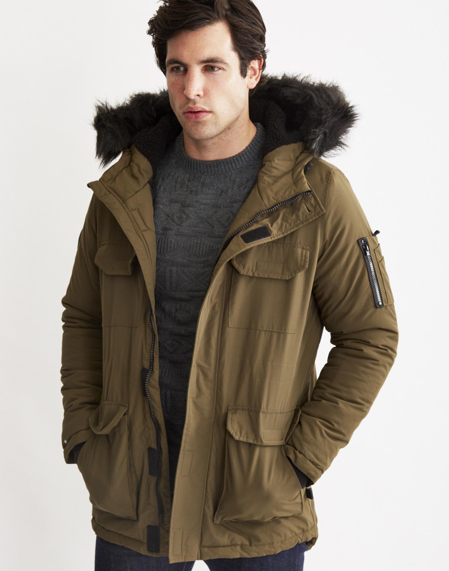 abb1348473 Bellfield Nimrod Fur-Trimmed Parka Jacket in Natural for Men - Lyst