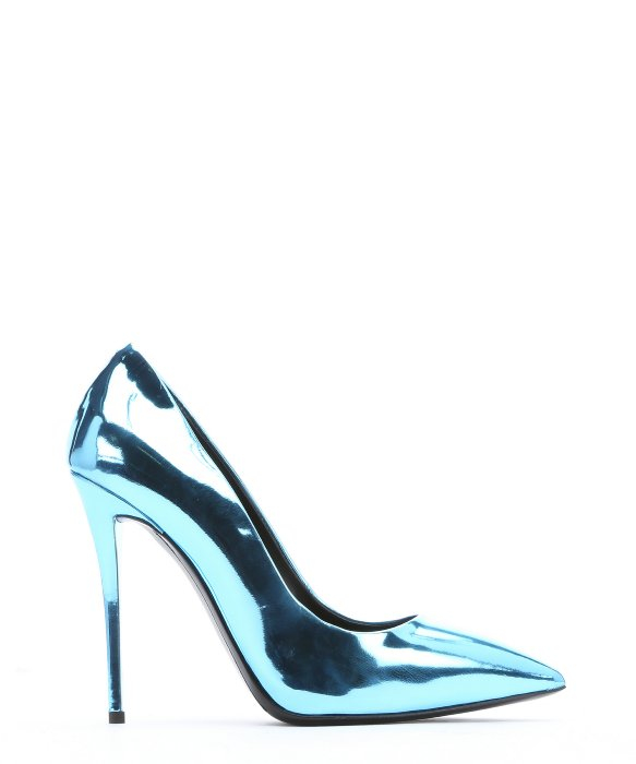 Giuseppe zanotti Blue Metallic Patent Leather &39yvette&39 Pumps in