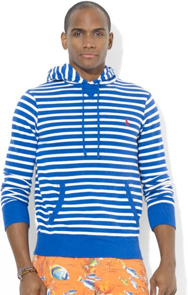 Polo Ralph Lauren Hoodie, Striped Jersey Pullover - Hoodies & Fleece