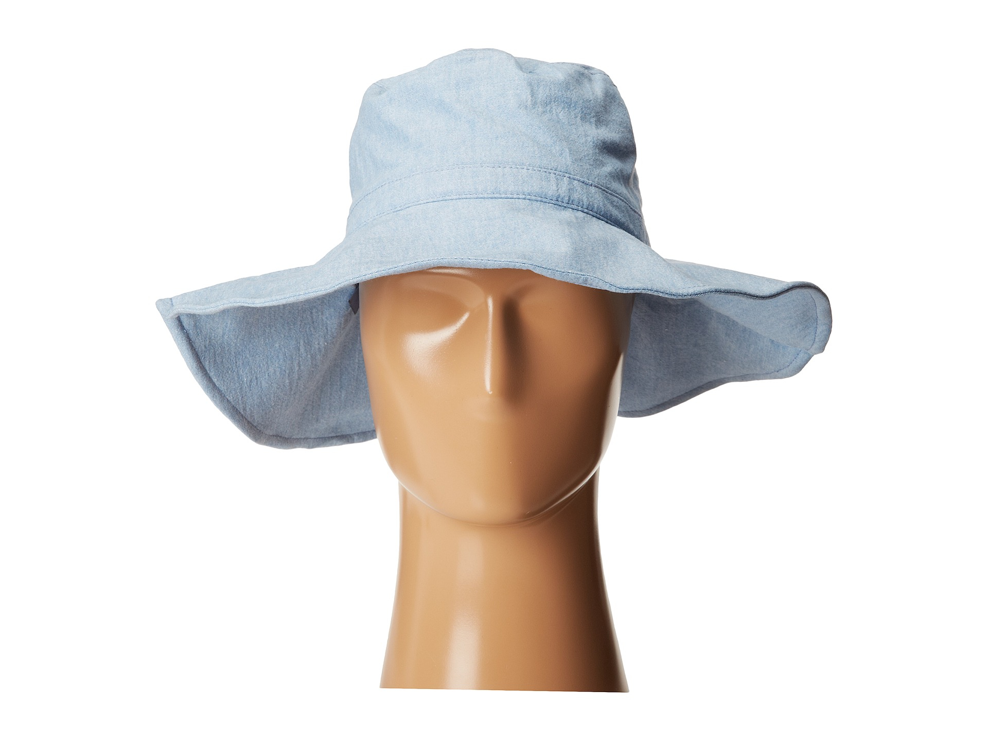 Lyst - Hat Attack Canvas Sunhat With Wire Brim in Blue 094e8ada1ce2