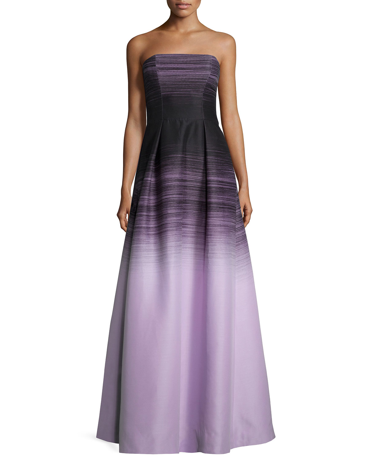 Halston Strapless Ombre Ball Gown in Blue  Lyst