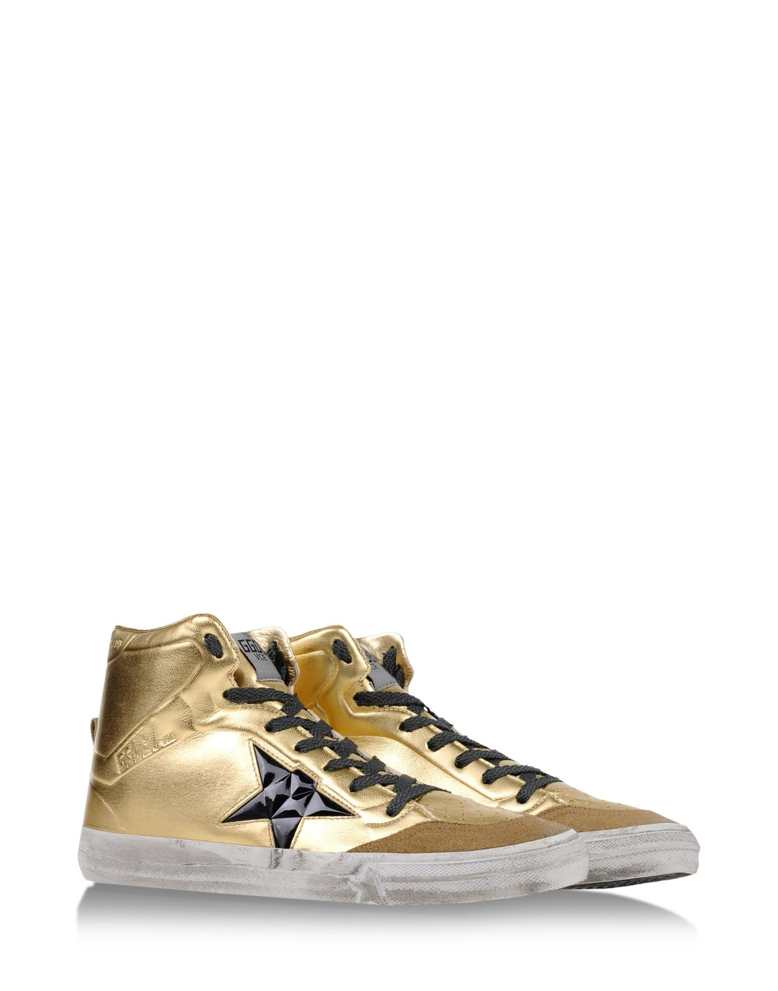 golden goose deluxe brand metallic high top sneakers in gold lyst. Black Bedroom Furniture Sets. Home Design Ideas