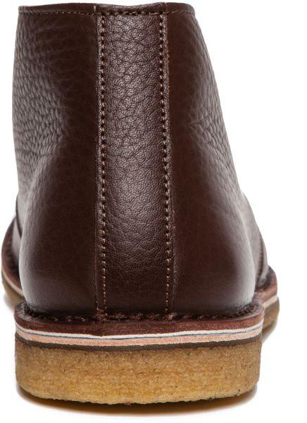 Alberto Moretti Arfango Desert Leather Chukkas In Brown