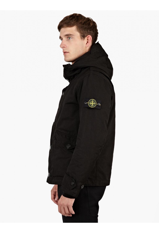 Stone island Black David-tc M-65 Field Jacket in Black for Men - Lyst