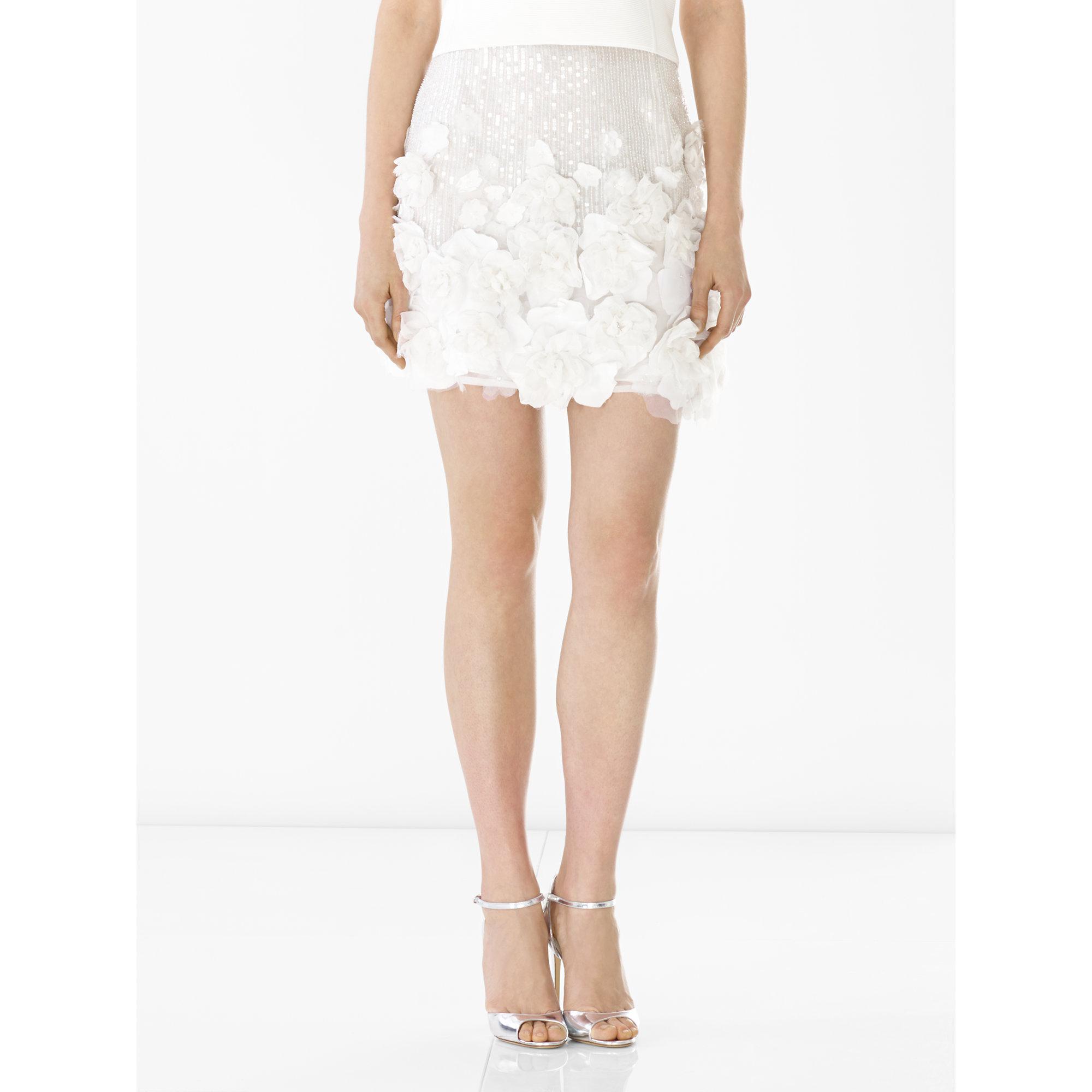 ed76e31ee6 Ralph Lauren Collection Beaded Silk Rosalyn Skirt in White - Lyst