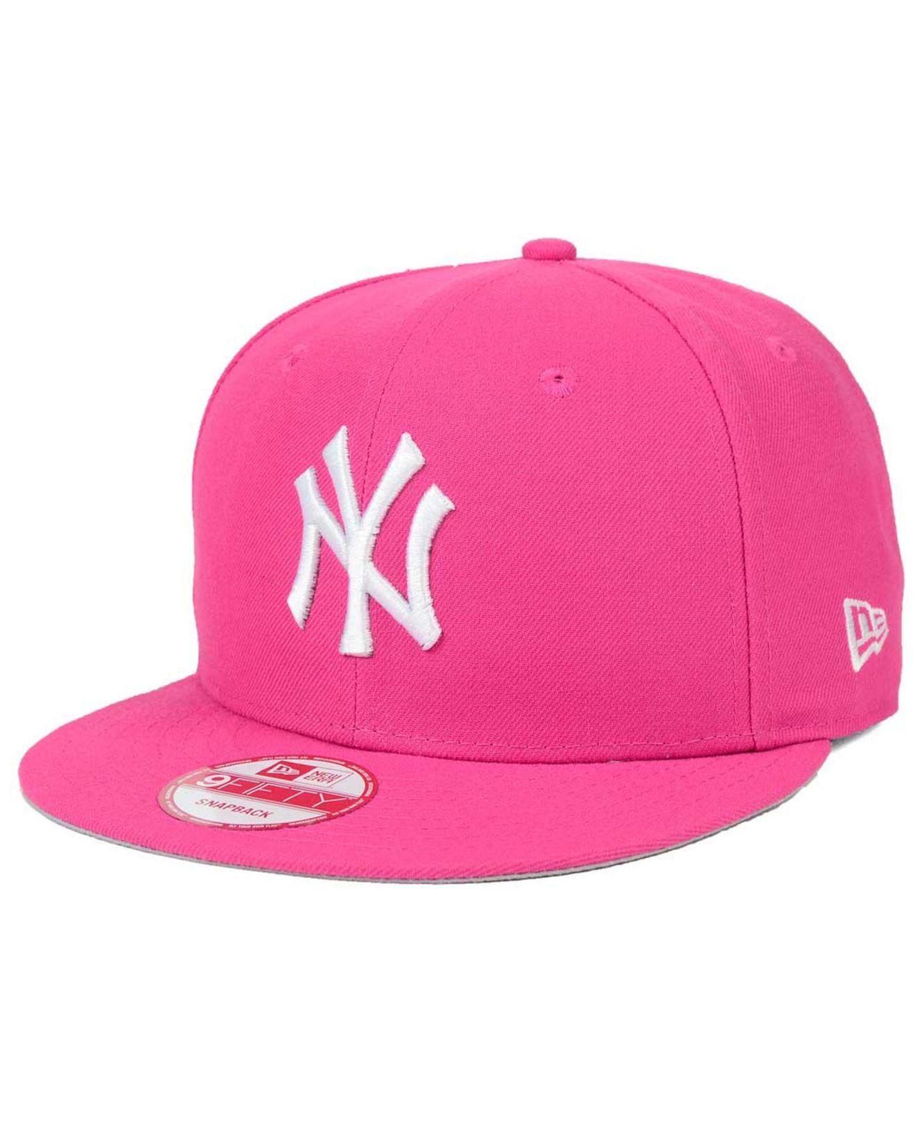 aade7456 italy new york yankees cap pink victoria de3f6 52c77