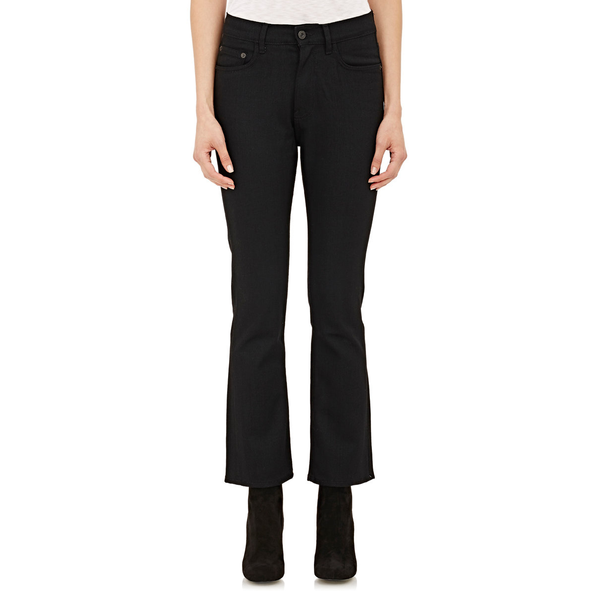 Proenza Schouler Woman Cotton-chambray Straight-leg Pants Light Denim Size 0 Proenza Schouler MRUh2zpg