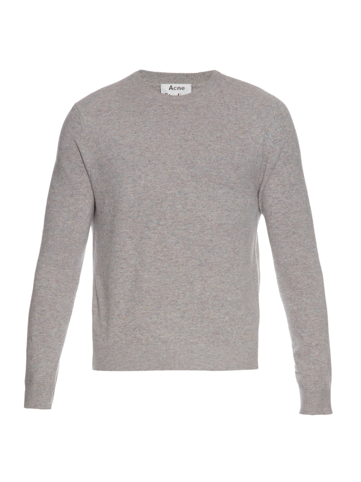 Acne Studios Chet Flecked Wool-knit Sweater in Gray for Men - Lyst 78e33576d1a