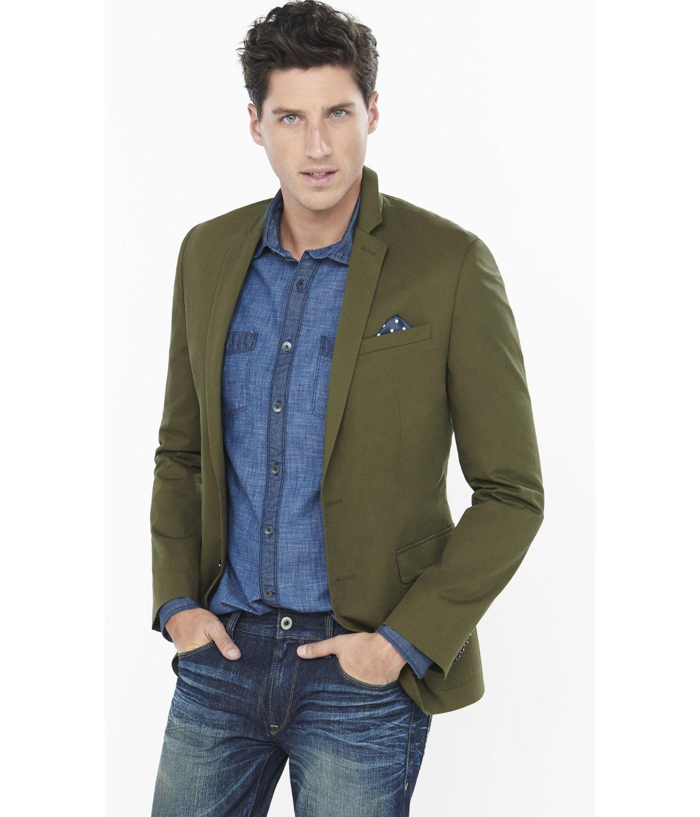 Compra verde chaqueta de esmoquin online al por mayor de