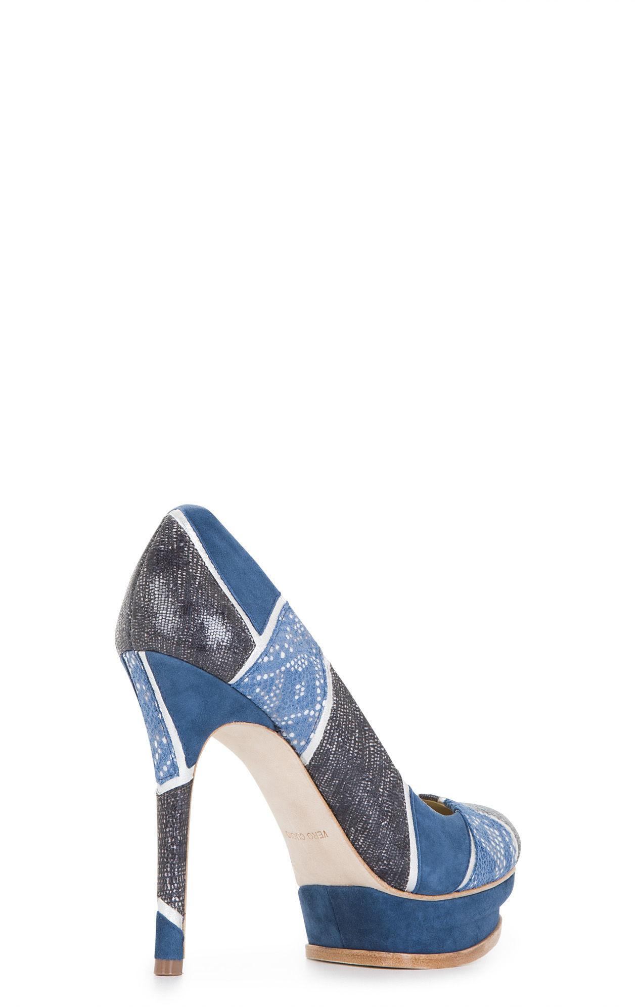 72d207d831dc Lyst - BCBGMAXAZRIA Pamela High-heel Platform Pump in Blue