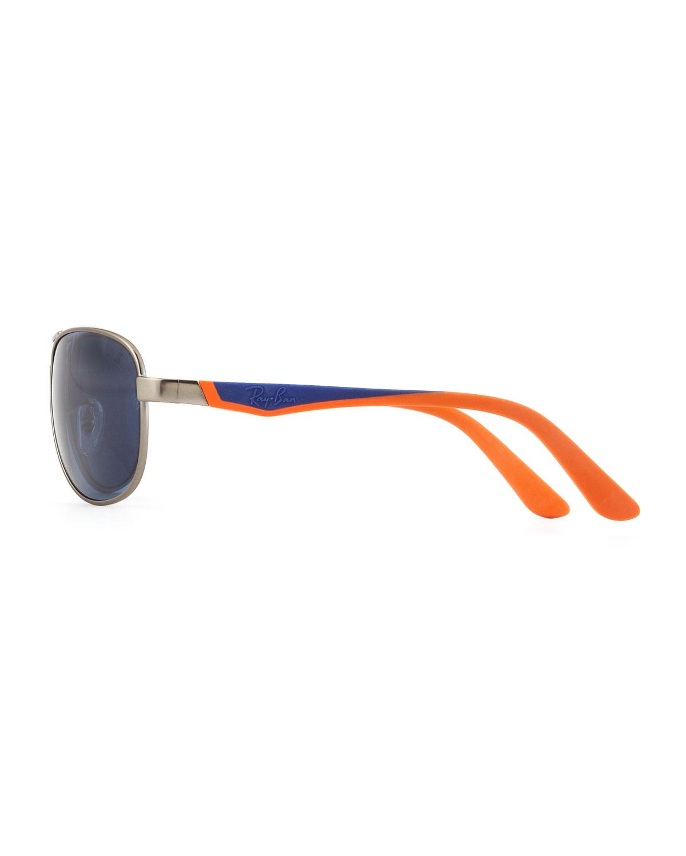 967f44854bf Ray-ban Kids Aviator Sunglasses Blue in Orange (BLUE)