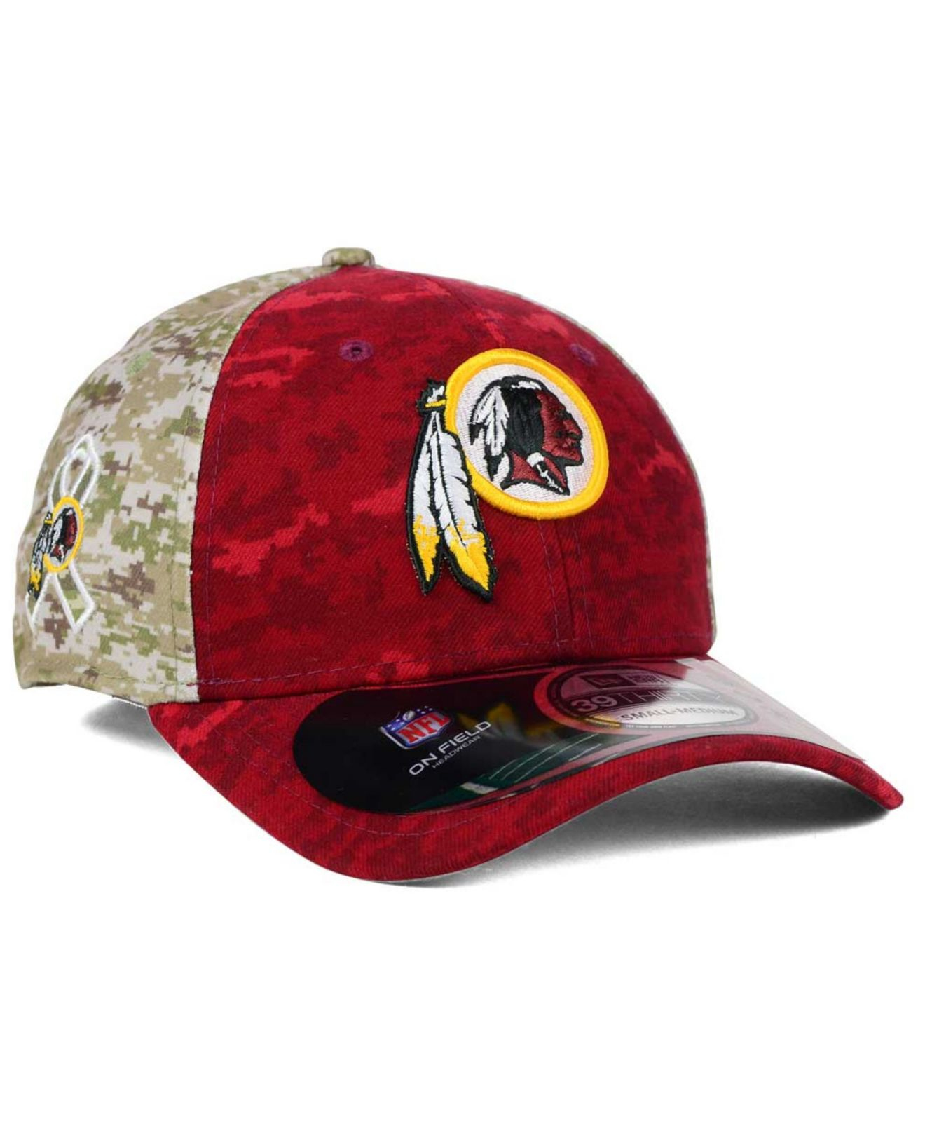 db2f5cef1a0e0 KTZ Washington Redskins Salute To Service 39thirty Cap in Green for ...