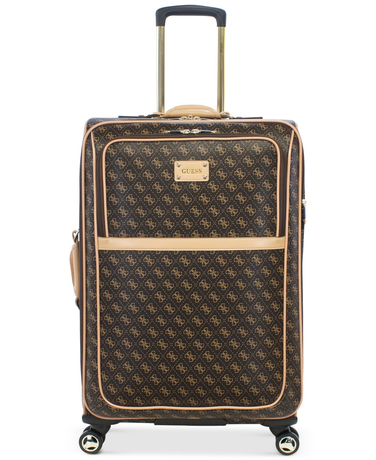 Guess Logo Affair Dlx 25 Quot Spinner Suitcase In Brown For