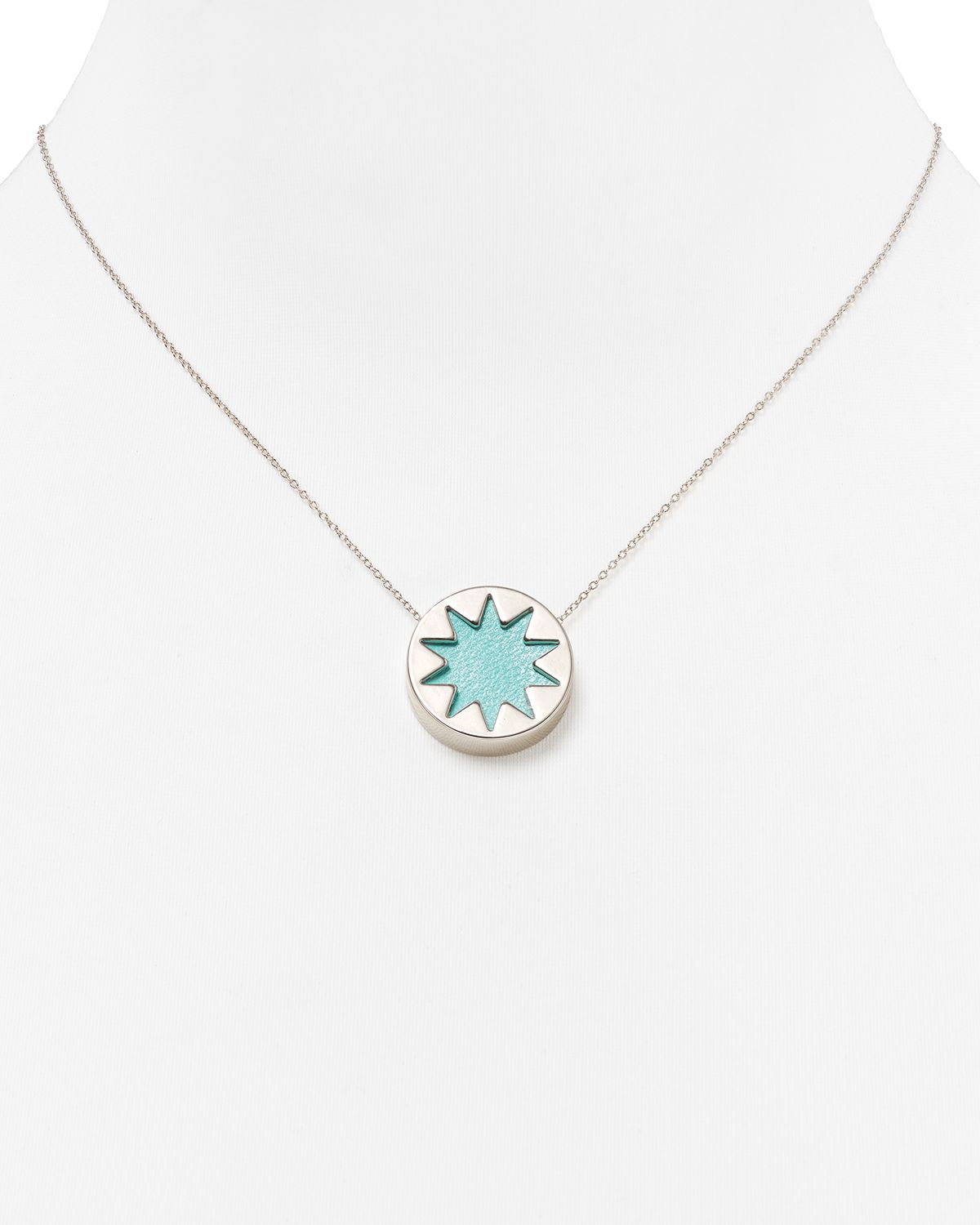 Lyst house of harlow 1960 mini sunburst pendant necklace 16 in gallery aloadofball Images
