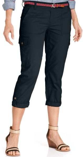 Popular 61 11 TOMMY HILFIGER NWT WOMENS MASTERS NAVY BLUE CAPRI CROPPED PANTS