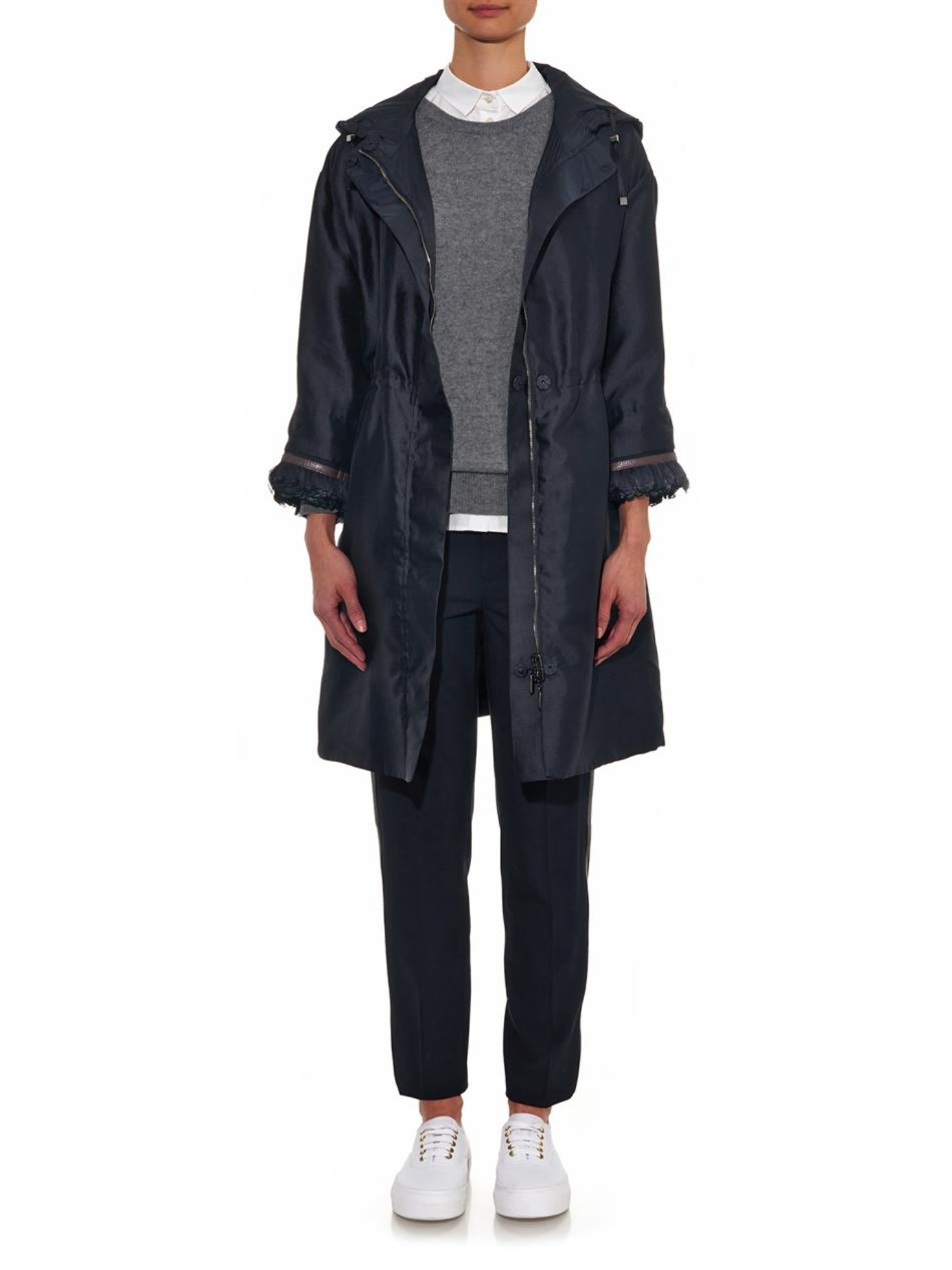 S Max Mara Soirc Reversible Coat In Blue Lyst
