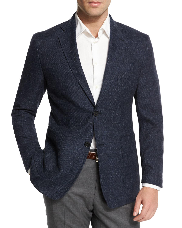 898715f57f6 Lyst - Billy Reid Rustin Textured Wool-blend Sport Coat in Blue for Men