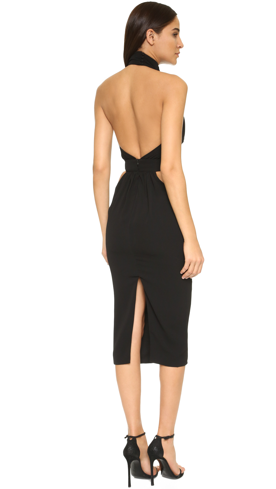 lyst misha collection cici dress in black