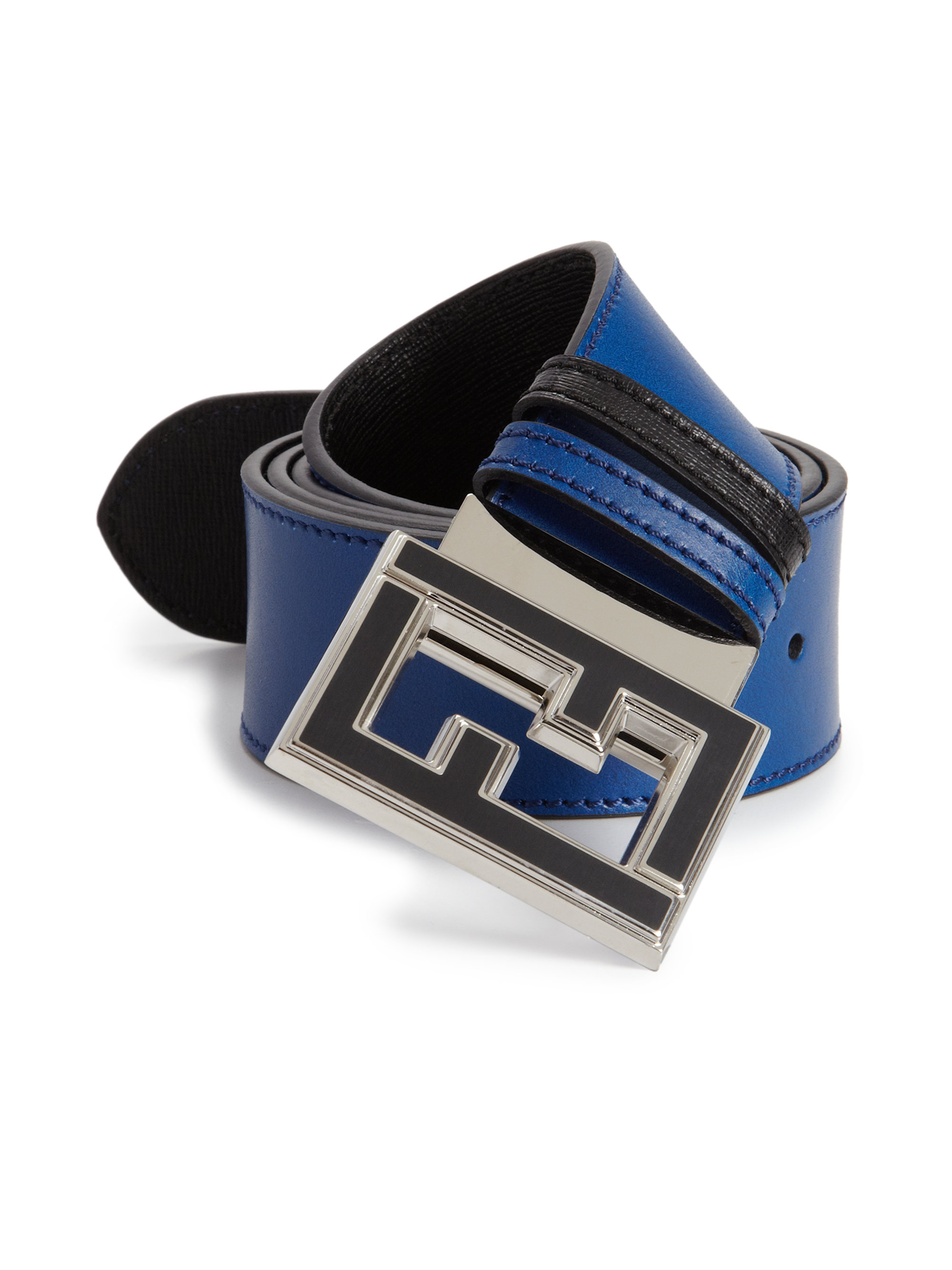 Fendi Reversible College Belt in Blue for Men | Lyst