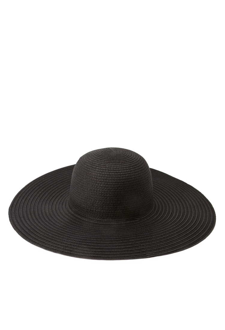 6f9431bf9ff Lyst - Forever 21 Floppy Wide-brim Straw Hat in Black