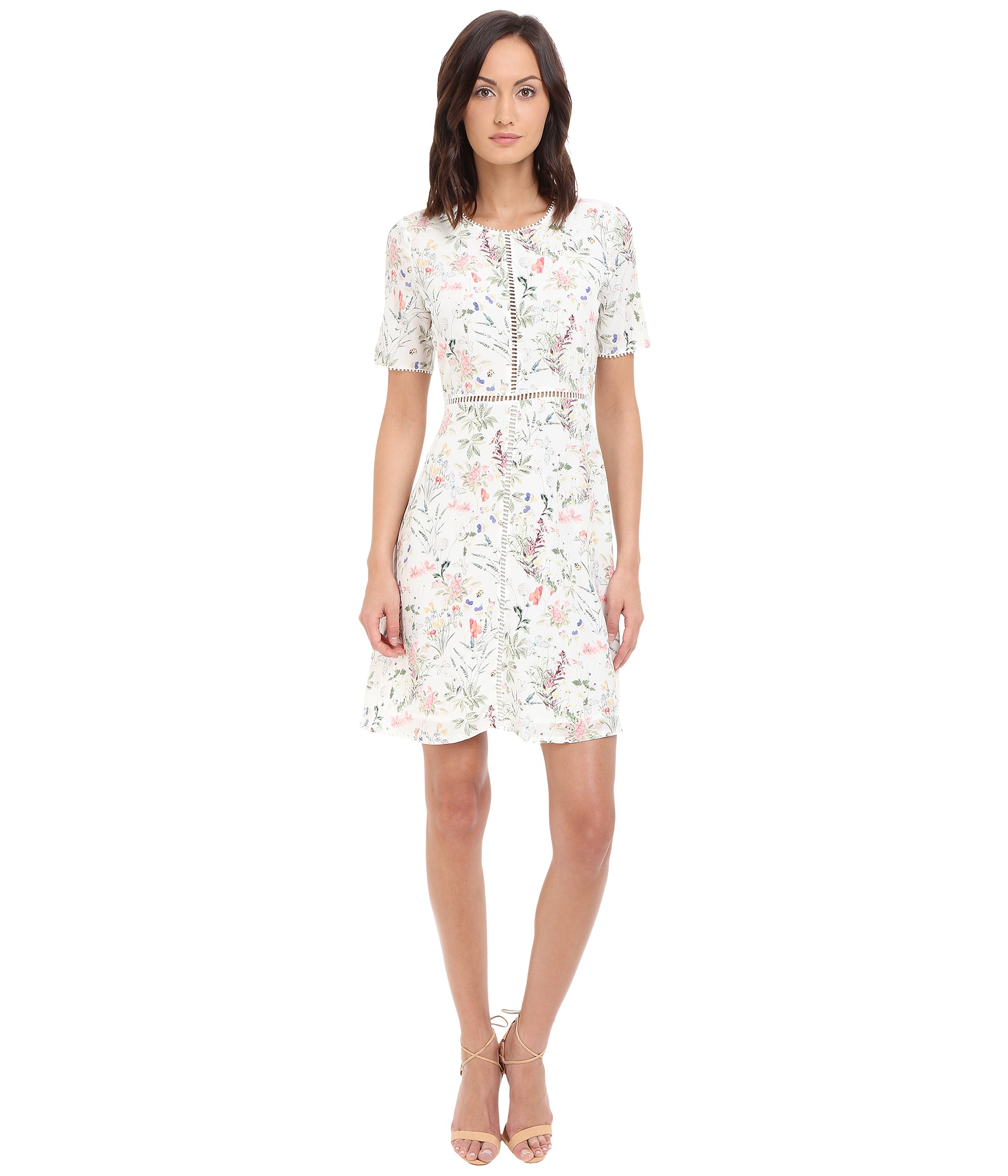 The Kooples Botanic On Cdc Dress In White Lyst