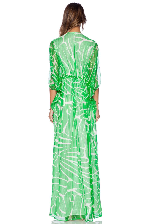 Geri green maxi dress