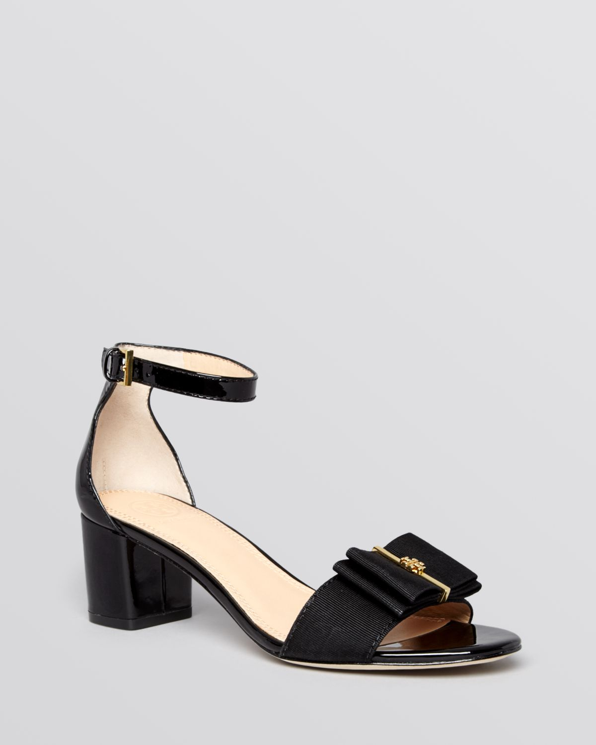 Lyst - Tory Burch Open Toe Ankle Strap Sandals Trudy in Black