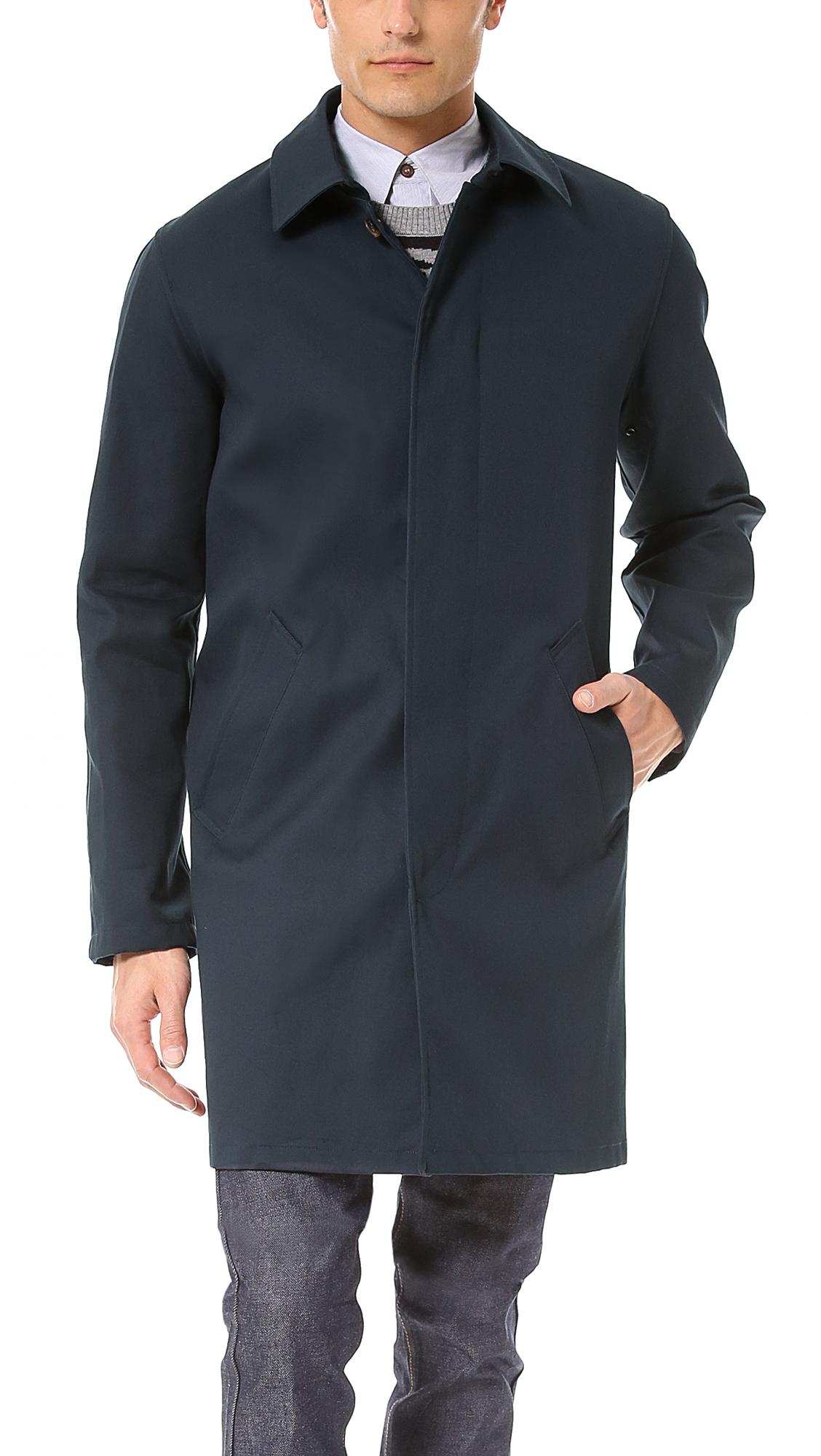 A P C Mac Jacket In Blue For Men Lyst