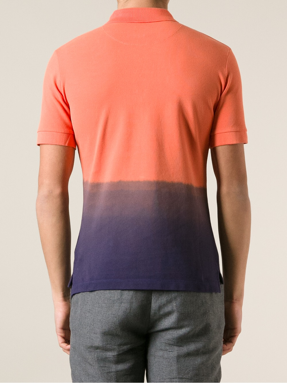 Lyst Vivienne Westwood Gradient Polo Shirt In Orange For Men