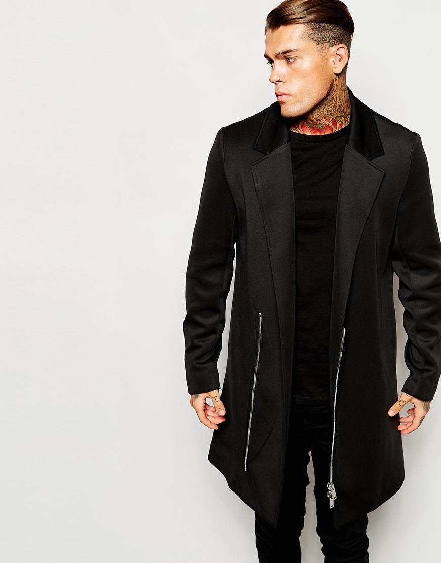 Black overcoats for men