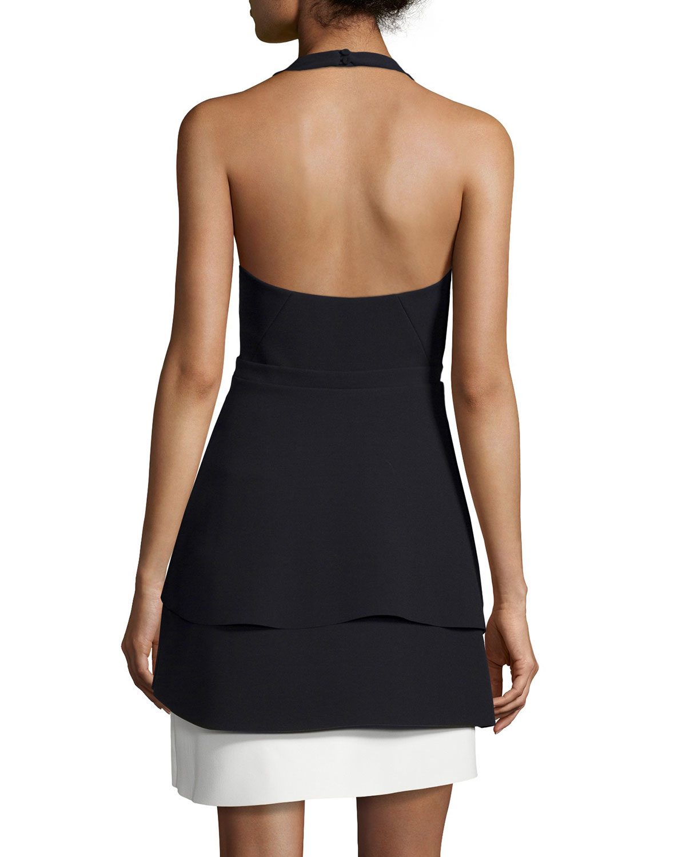 Halston black cocktail dress