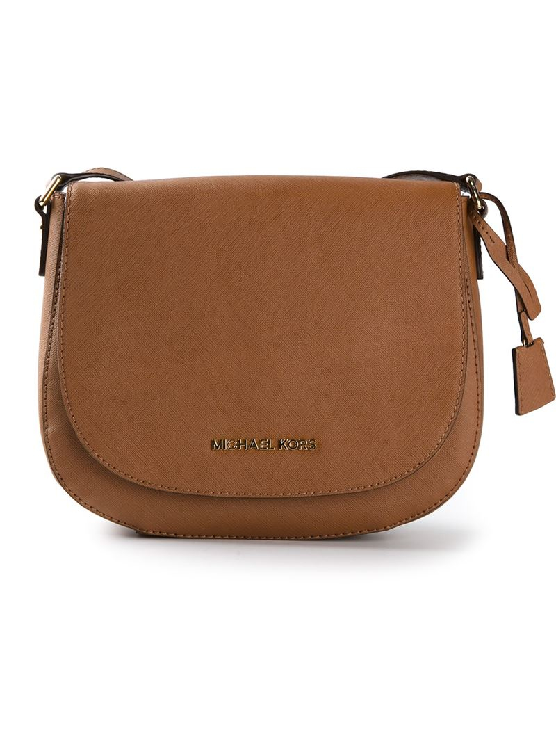 michael michael kors  u0026 39 hamilton u0026 39  large messenger bag in brown