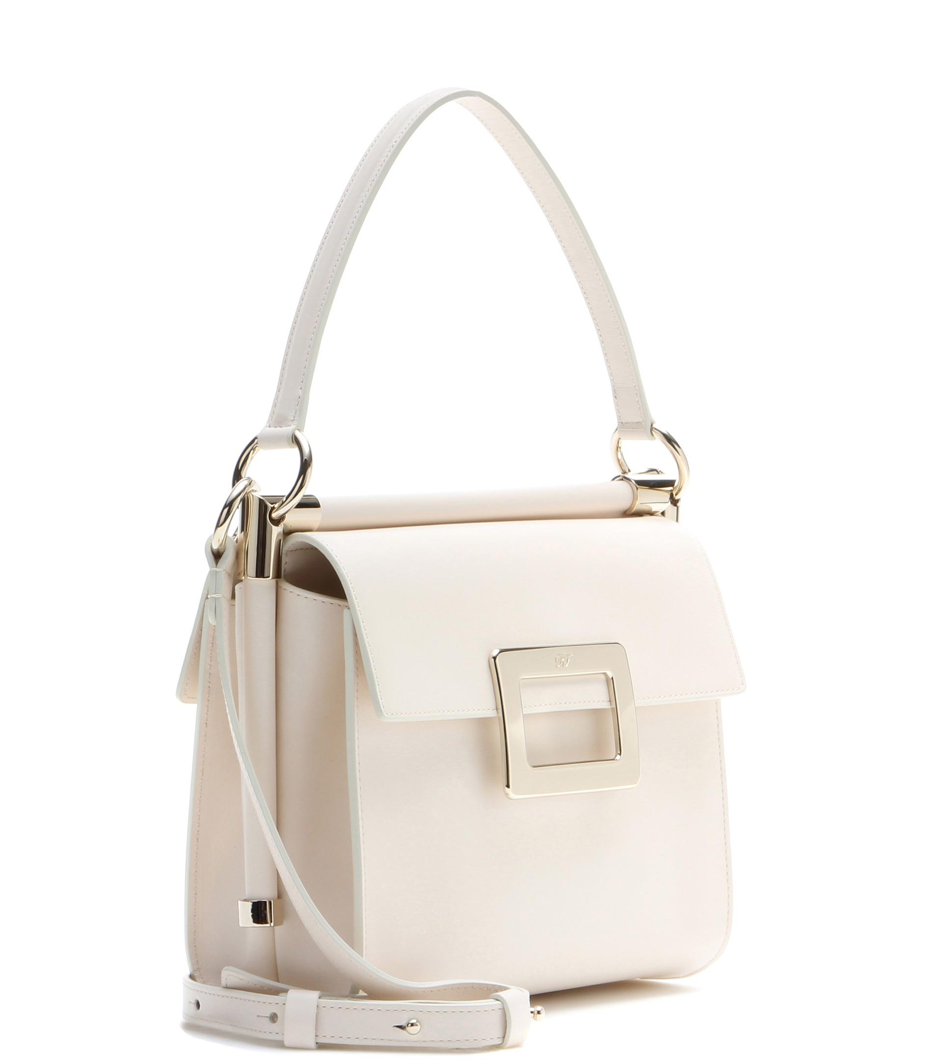 53b9fdcfb8 Lyst - Roger Vivier Miss Viv  Carré Small Leather Shoulder Bag in ...