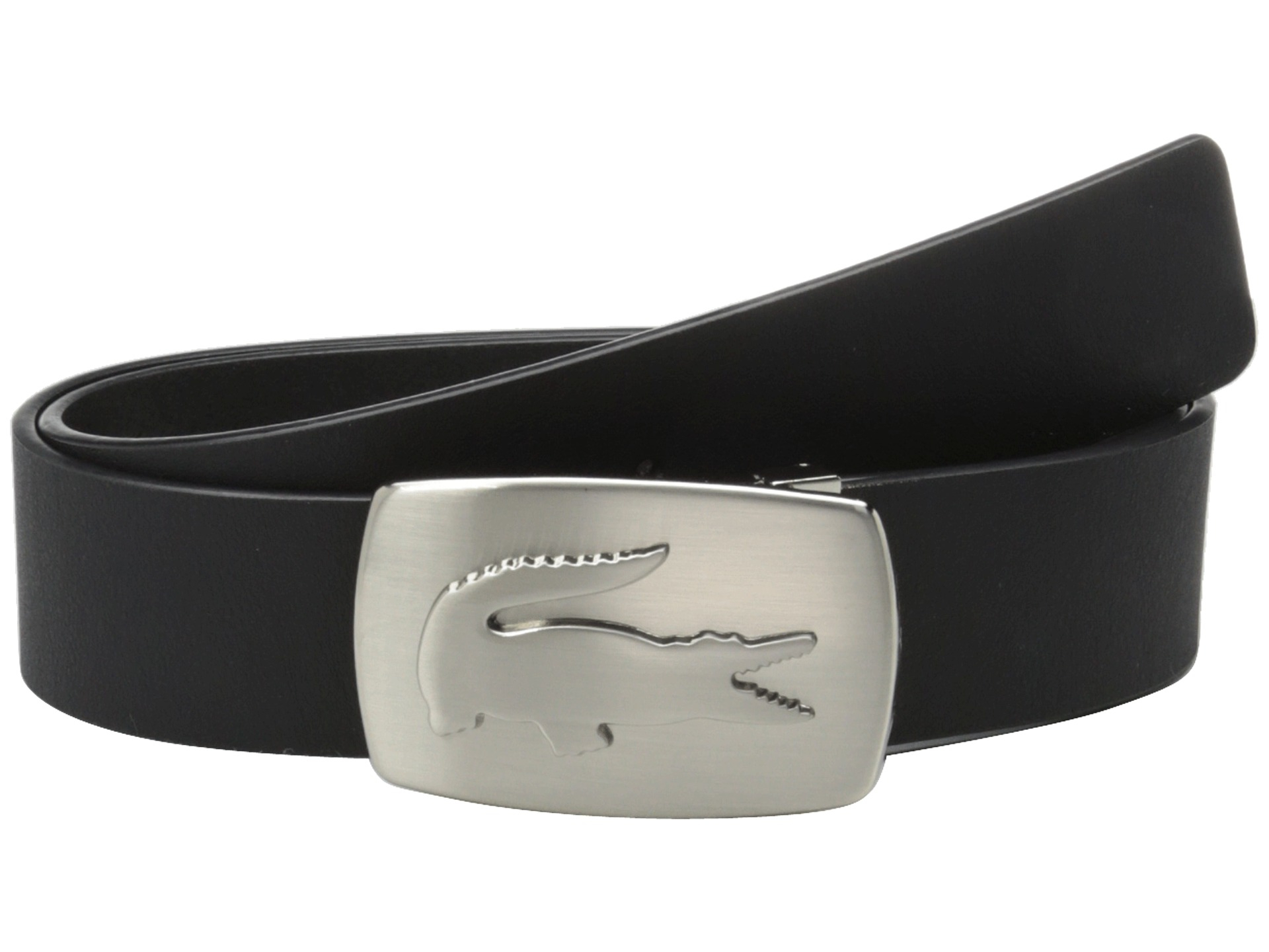 Lyst Lacoste Spw Leather Belt Metal Croc Buckle Plate In