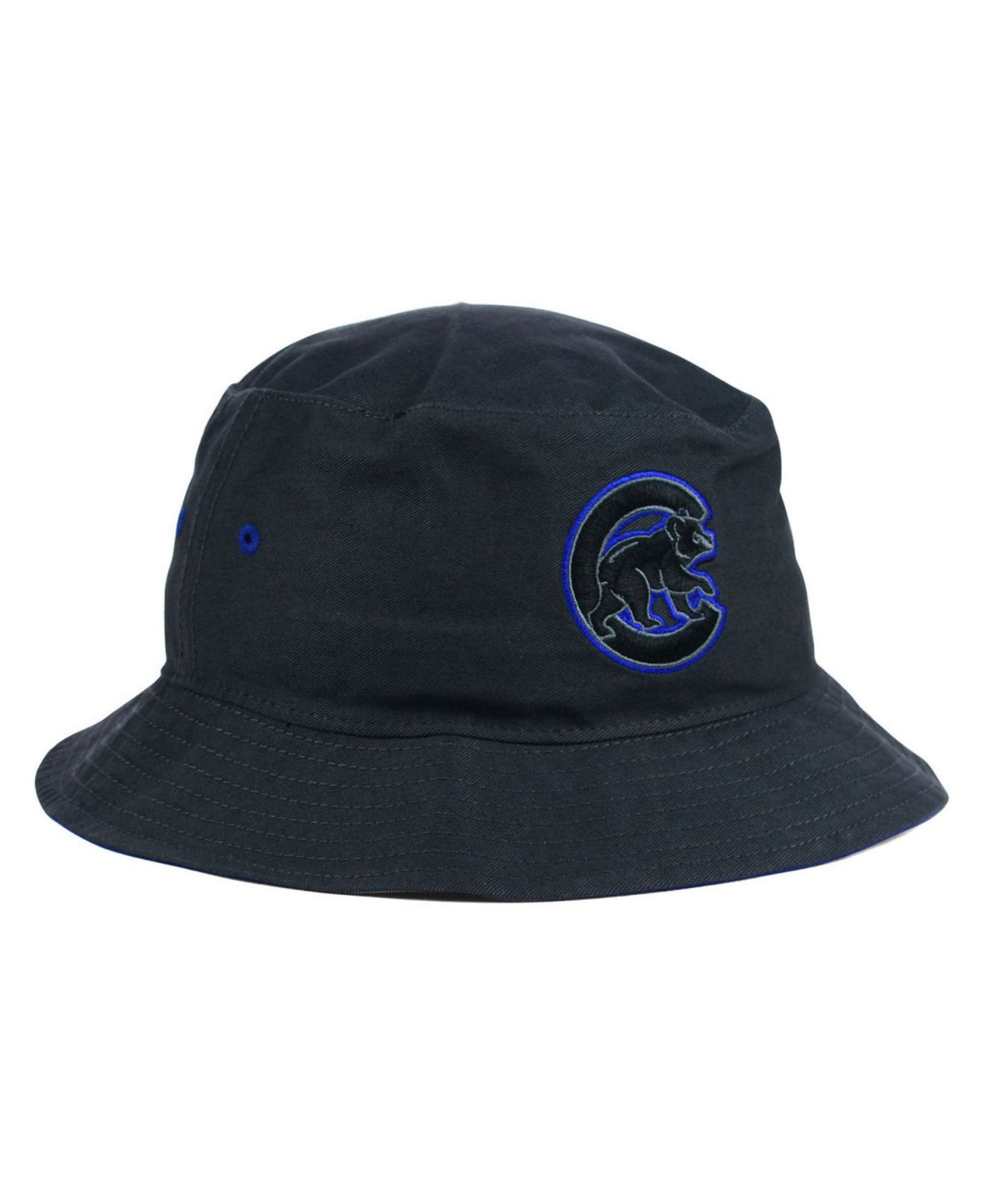 ec232eca39b ... new arrivals lyst 47 brand chicago cubs turbo bucket hat in blue 66e6d  ad852