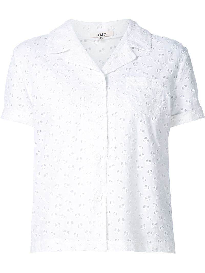 Women's Broderie Anglaise Shirts It's all about tailoring this season and there's no easier way to wear the trend than with a broderie anglaise shirt. Smart enough for the office but so trending that you'll be itching to wear it at the weekends too, the broderie anglaise shirt is the everyday staple you didn't know you needed (but you really do).