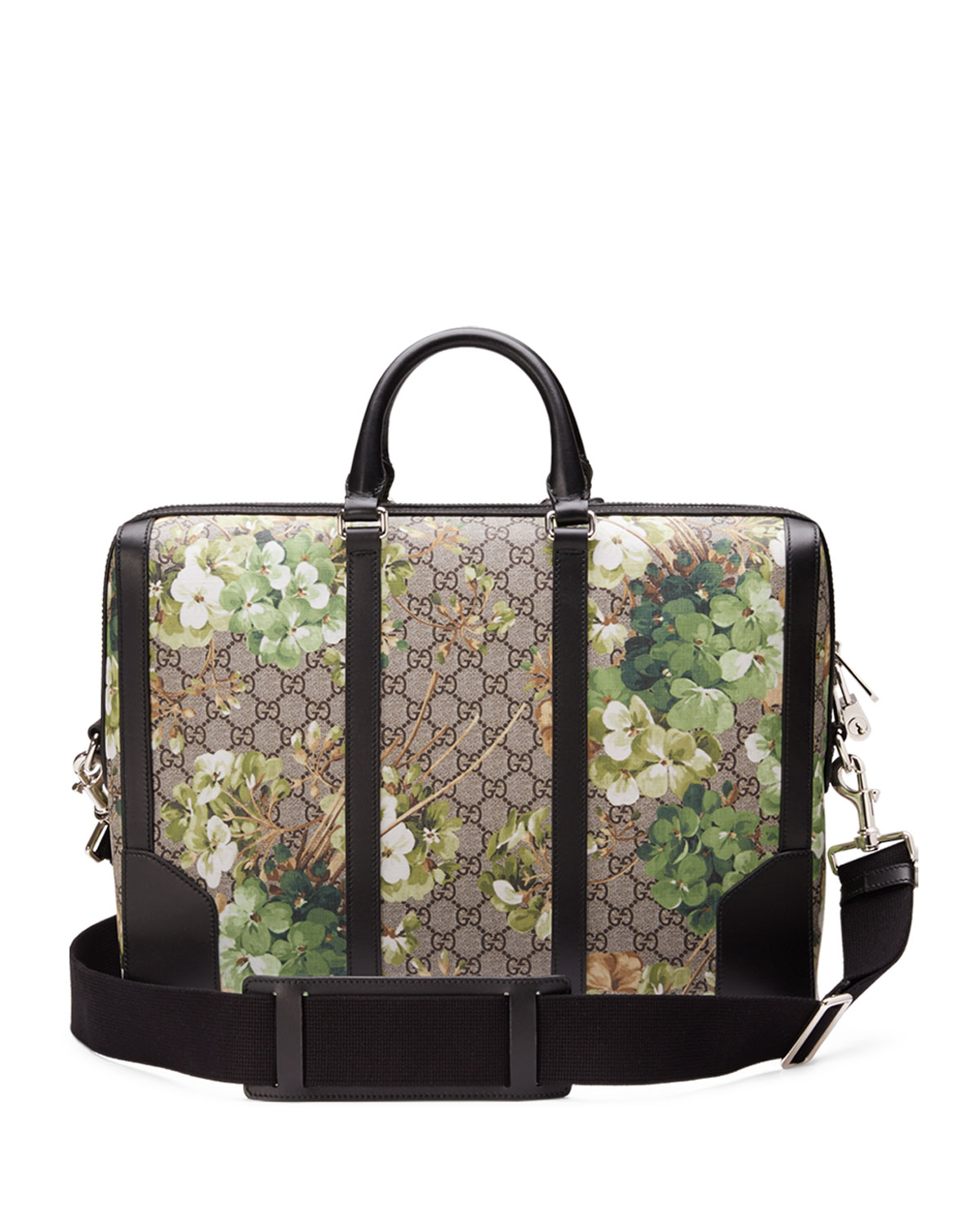 aaa6988855e Lyst - Gucci Gg Blooms Printed Canvas Briefcase in Metallic