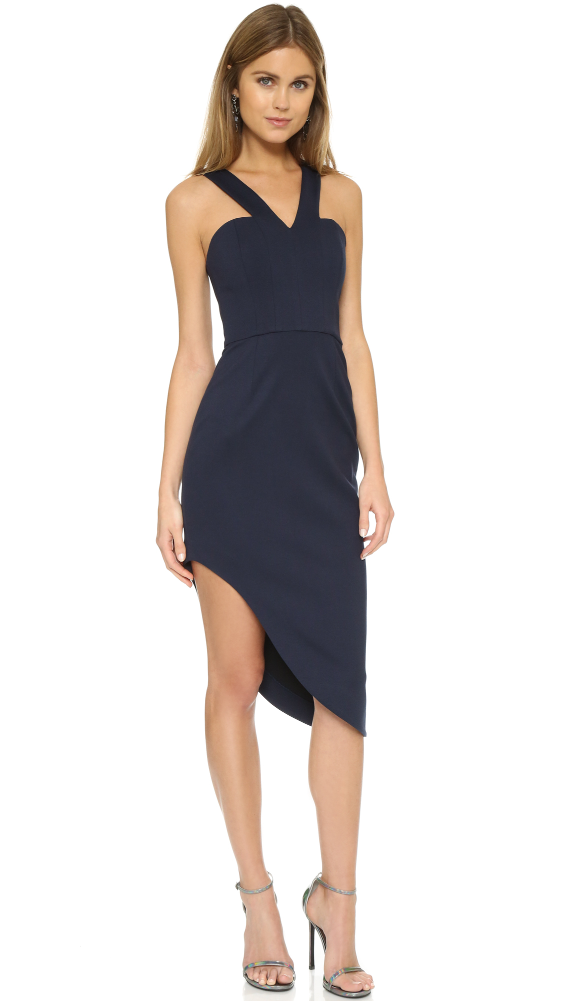 f1dc700878 Nicholas N   Ponte Side Curve Strap Dress in Blue - Lyst