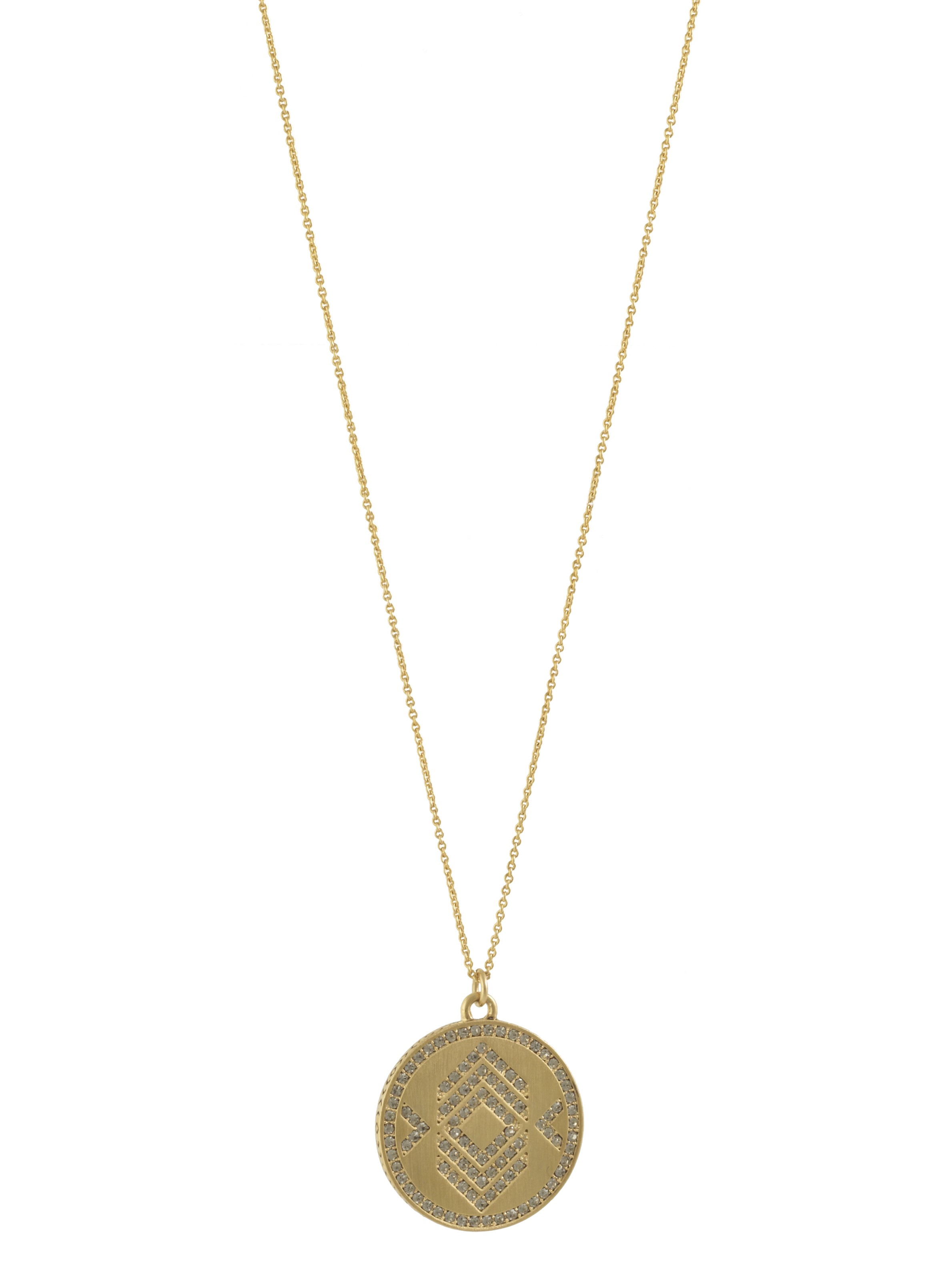 house of harlow 1960 andes reversible coin necklace in